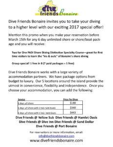 Dive Friends Bonaire special