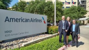 The delegation visits American Airlines.