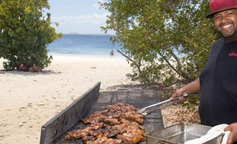 Bonaire Culinary Team beach BBQ
