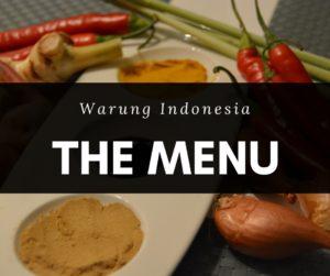 warung indonesia menu