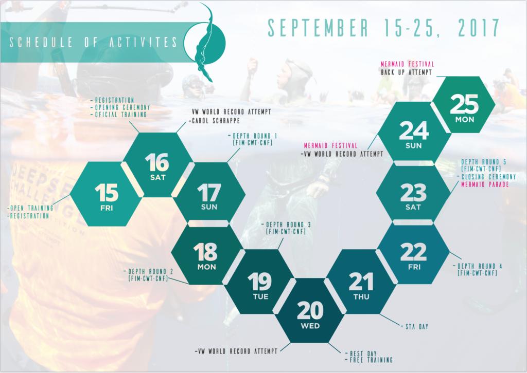 calendar deepsea challenge