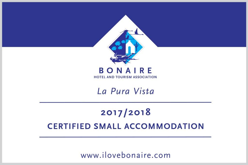 BONHATA certified small accommodation