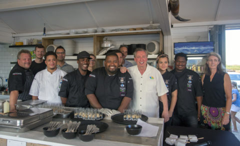 Frank Comito of CHTA with Bonaire Culinary Team